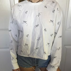 paper airplane long sleeve